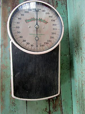 Vintage Pink Health O Meter Continental Scale Works Chicago1930's Bubble glass