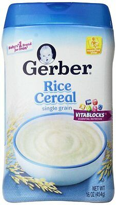 Gerber Baby Cereal, Rice, 16 Ounce (Pack of 6) , New, Free Shipping