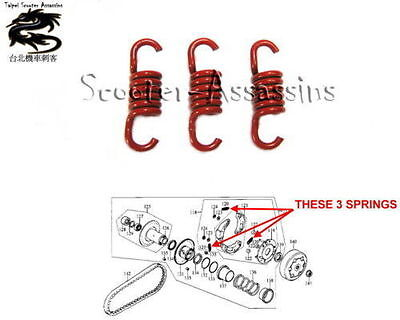 2000rpm RACE CLUTCH SPRINGS for KYMCO 125cc Scooters