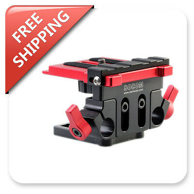 Kamerar Dual Rods Mounting Baseplate Tripod Stabilizer for Socom Shoulder Rig