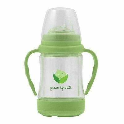 green sprouts Glass Sip `n Straw Cup, Light Lime, 4 Ounce , New, Free Shipping