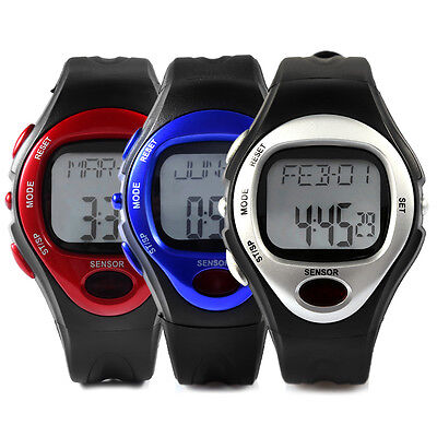 Leatheroid Band Sport Calorie Burn Counter Pulse Heart Rate Monitor Wrist Watch