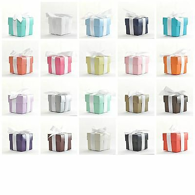 """Luxury Colour Lined Wedding Favour Boxes With Lids """"The Cheapest on Ebay!"""""""