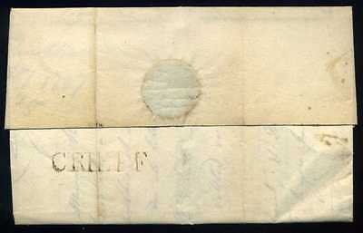 Early Scottish 1807 CRIEFF Straight Line Letter to Edinburgh