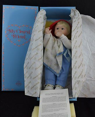 """""""My Beary Softest Blanket"""" Porcelain Doll by Knowles Dolls in 1993"""