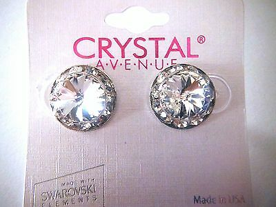 Clear Crystal earrings dance moms Ballroom competition perfomance swarovski kids