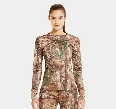 NEW Under Armour Ladies EVO Scent Control Camo Shirt Size XLARGE  Realtree XTRA