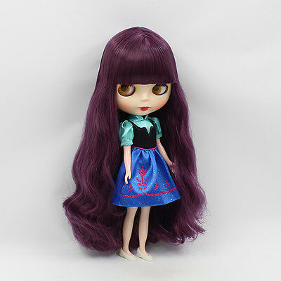 """12"""" Neo Nude  Purple hair Blythe doll From Factory  JSW52006"""