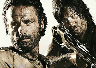 Rick & Daryl - The Walking Dead A4 Laminated TABLE PLACE MAT - ADD YOUR NAME