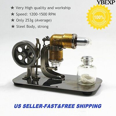 Mini Hot Air Stirling Engine Motor Model Educational Toy Kits Electricity US