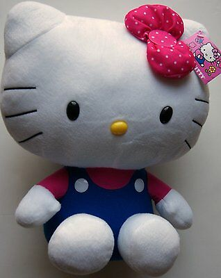 """Hello Kitty Plush Stuffed Doll Toy Pink and Blue 12"""" New with Tags"""