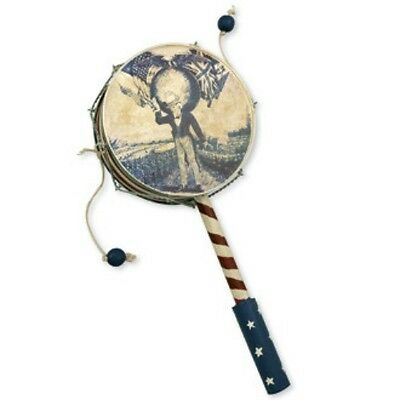 "Bethany Lowe July 4Th~Summer AMERICANA 10.5""Vintage Inspired LIBERTY DRUM RATTLE"