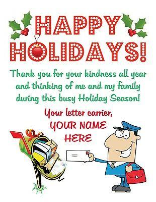 Mailman Letter Carrier Mail Carrier Christmas Thank You