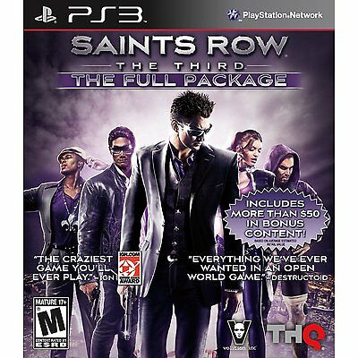 BRAND NEW FACTORY SEALED SAINTS ROW THE THIRD: FULL PACKAGE (SONY PS3, 2012)