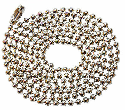 Steel Ball Neck Chain for ID Cards Pockets, Badge Holders, Key Chains or Dog Tag