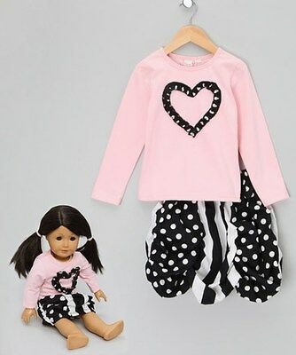 FOREVER PRINCESS SKIRT AND TOP 6YRS with  DOLLS OUTFIT - New