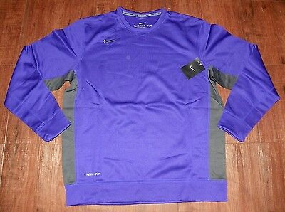 Nike Team KO Men's Long Sleeve Crew New With Tags Color: Purple