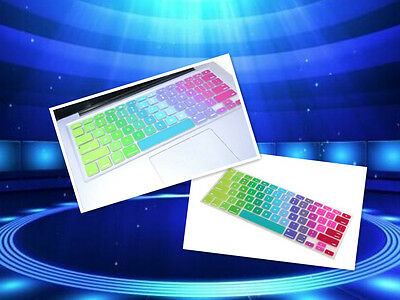 Fashion Colorful Rainbow Keyboard Cover Skin Protector For Apple Laptop IMAC Mo