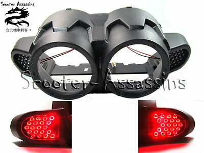 LED INTEGRAL EXTRA BRAKE LIGHTS in REAR COVER for YAMAHA BWS / ZUMA 125