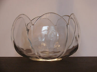 HEISEY  IMPERIAL GLASS CLEAR CUPPED PANEL & SCALLOP RIM LILY/TULIP  BOWL #1575