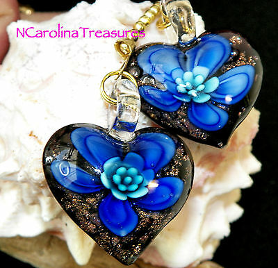 Glass Gold Glitter Ceiling Fan Light Pull Black Blue Floral Heart Large Pair