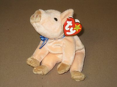 Ty Beanie Babies - Knuckles the Pig - MWMT - DOB: March 25, 1999