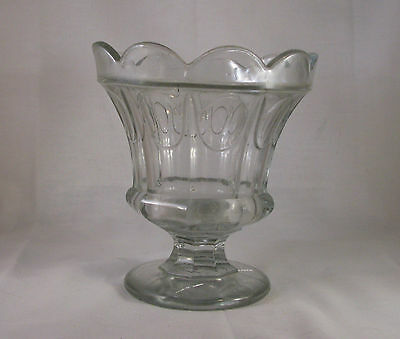 EAPG FLINT GLASS COMPOTE