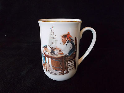 Norman Rockwell cup mug  for a good boy 1982