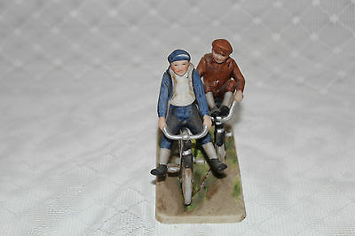 "Norman Rockwell 1983 ""BICYCLE BOYS"" Figurine by The Norman Rockwell Museum"