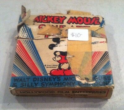 Vintage Mickey Mouse Films 16 mm 910-A Mickey The Messenger