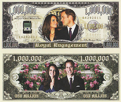 RARE: Royal Engagement $1,000,000 Novelty Note, Kat & Will,  Buy 5 Get one FREE