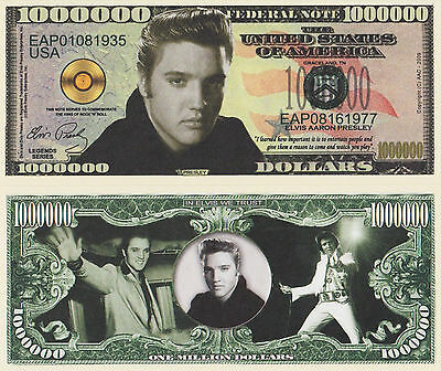 RARE: Elvis Presley $1,000,000 Novelty Note, Movies Buy 5 Get one FREE