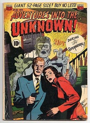 Adventures Into The Unknown #25 Acg Horror Ken Bald '51