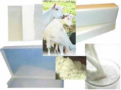 20kg GOATS MILK SOAP BASE Melt and Pour + FREE eBook Clear or White Blended