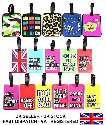 Luggage tag Suitcase name and address Label ID tag Novelty Holiday Travel Bagtag