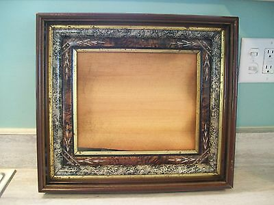 ANTIQUE EASTLAKE LARGE SHADOWBOX PICTURE FRAME 3 TIER LEMON GILD EBONY 16 X 18