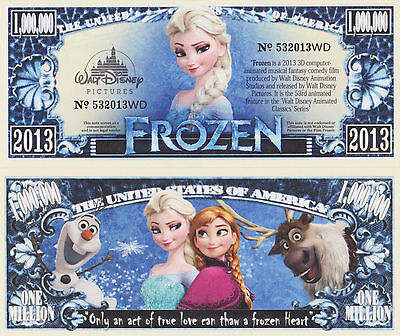 RARE: Frozen $1,000,000 Novelty Note, Movies Buy 5 Get one FREE