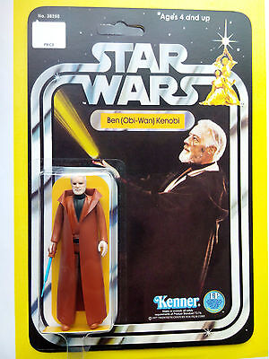 VINTAGE 1977 OBI WAN KENOBI PRODUCED BY KENNER TOYS STAR WARS 12 BACK NEW HOPE