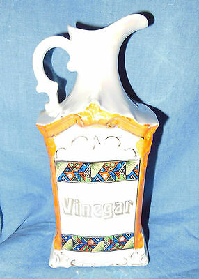 Vintage Mepoco Vinegar Pearl Luster Ceramic Hand Painted Gold  Germany 644