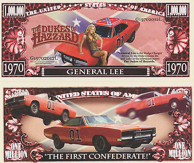 RARE: Dukes Of Hazzard, General Lee $1,000,000 Novelty Note, Buy 5 Get one FREE
