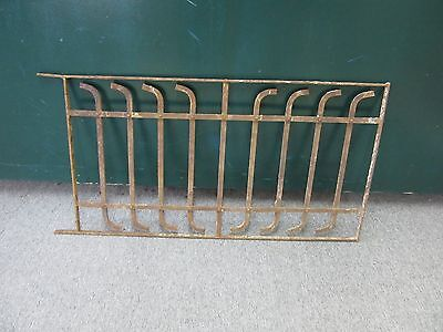 Antique Victorian Iron Gate Window Panel Fence Architectural Salvage Door#3