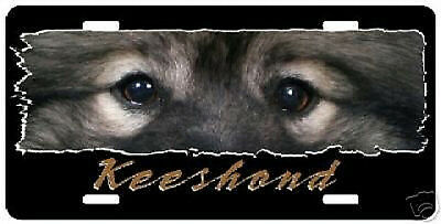 "Keeshond "" The Eyes Have It ""  License  Plate"