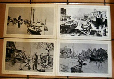 LIONEL BARRYMORE ARTWORK - FOUR LAMINATED PLACE MATS