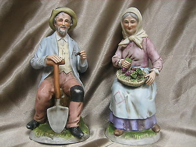 """VINTAGE HOMCO COUPLE MAN AND WOMEN""""THE GOLDEN YEARS"""" SET OF 2"""