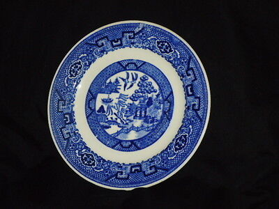Lot of 2 6.25 inch Antique Homer Laughlin Blue Willow Bread & Butter Plates