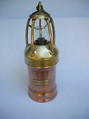 ANTIQUE  VINTAGE COPPER BRASS  MINERS  RAILROAD  SHIP LAMP  LANTERN EUROPE