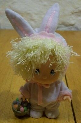 """Precious Moments BABY IN EASTER BUNNY COSTUME 6"""" Plastic DOLL Toy Figure NEW"""