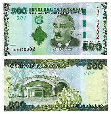 2010 Tanzania 500 Shillings Uncirculated Note