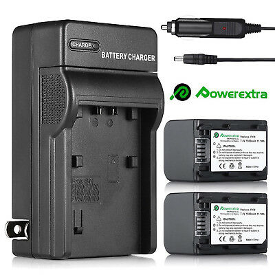 2x Battery + Charger For Sony NP-FH30 NP-FH40 NP-FH60 NP-FH70 NP-FH90 NP-FH100