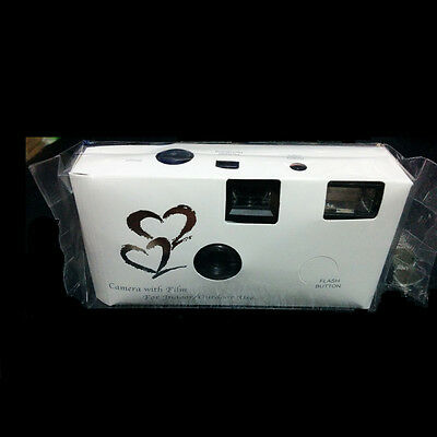 New 36exp HEARTS DISPOSABLE WEDDING Bridal CAMERA WITH FLASH
